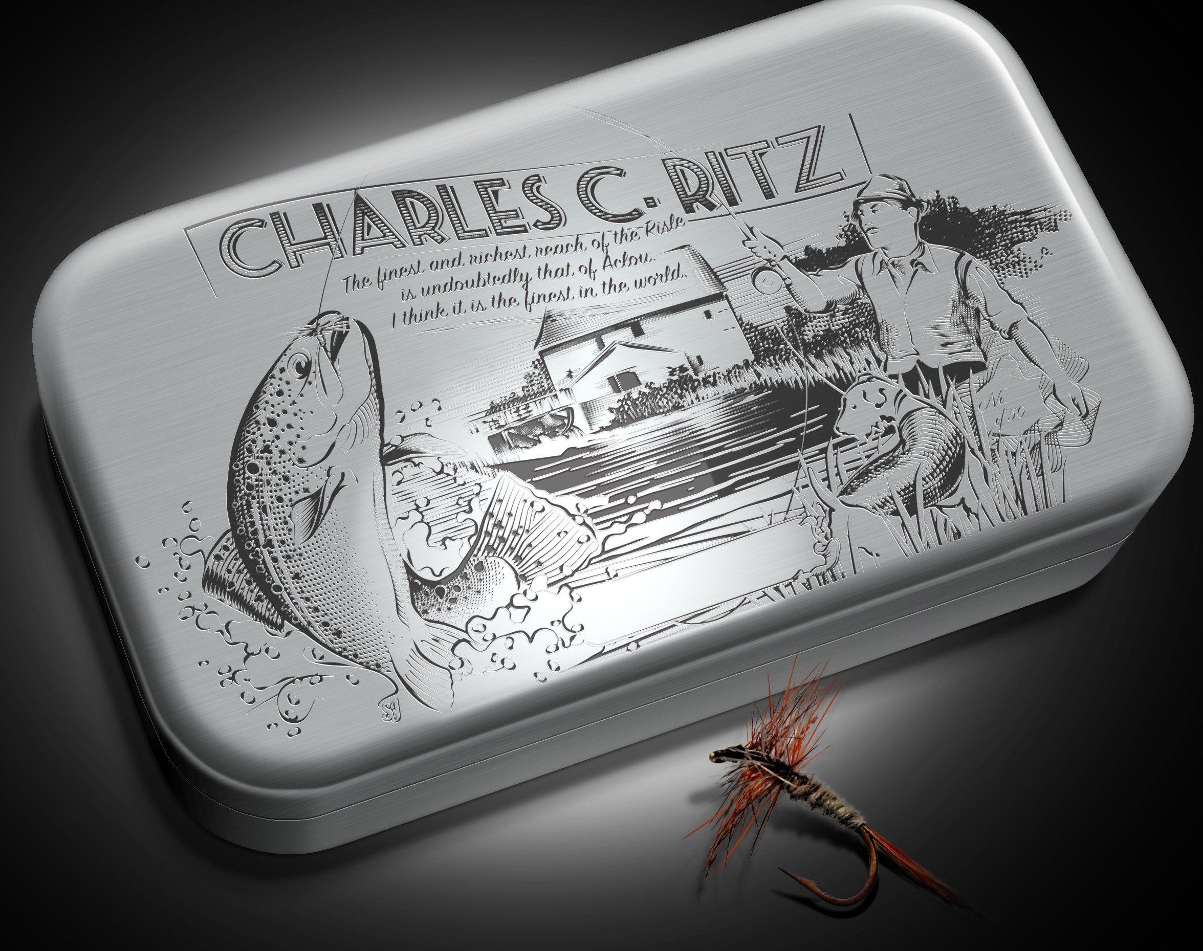 Charles Ritz Engraving